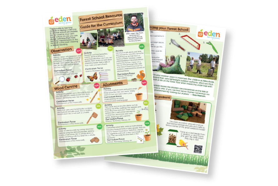 Eden outdoor learning resource sheets