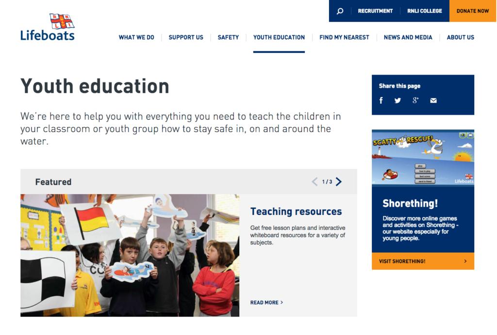 Lifeboats RNLI free school visits