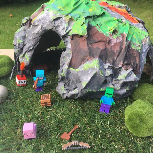 minecraft papier mache cave 16