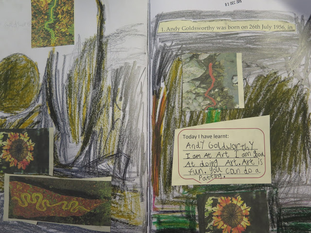 The use of sketchbooks at Gomersal Primary School