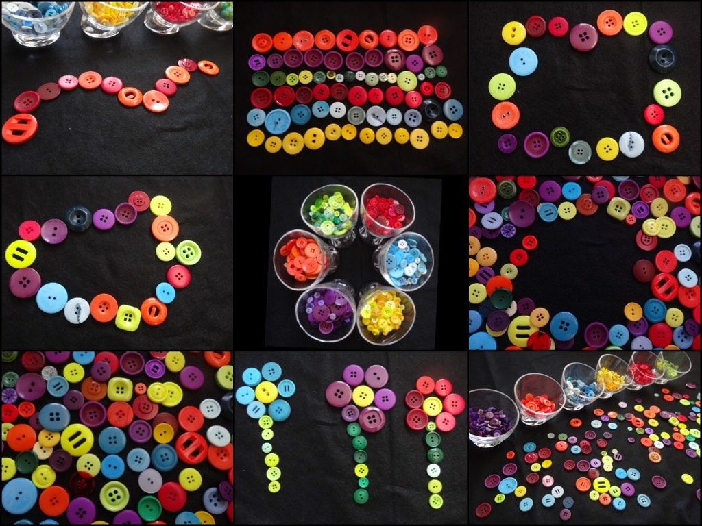 3. Transient art with buttons - from Stimulating Learning with Rachel