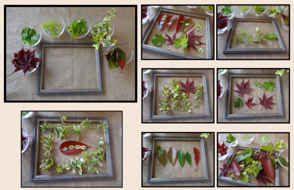 6. Transient art with empty frames and leaves - from Stimulating Learning with Rachel