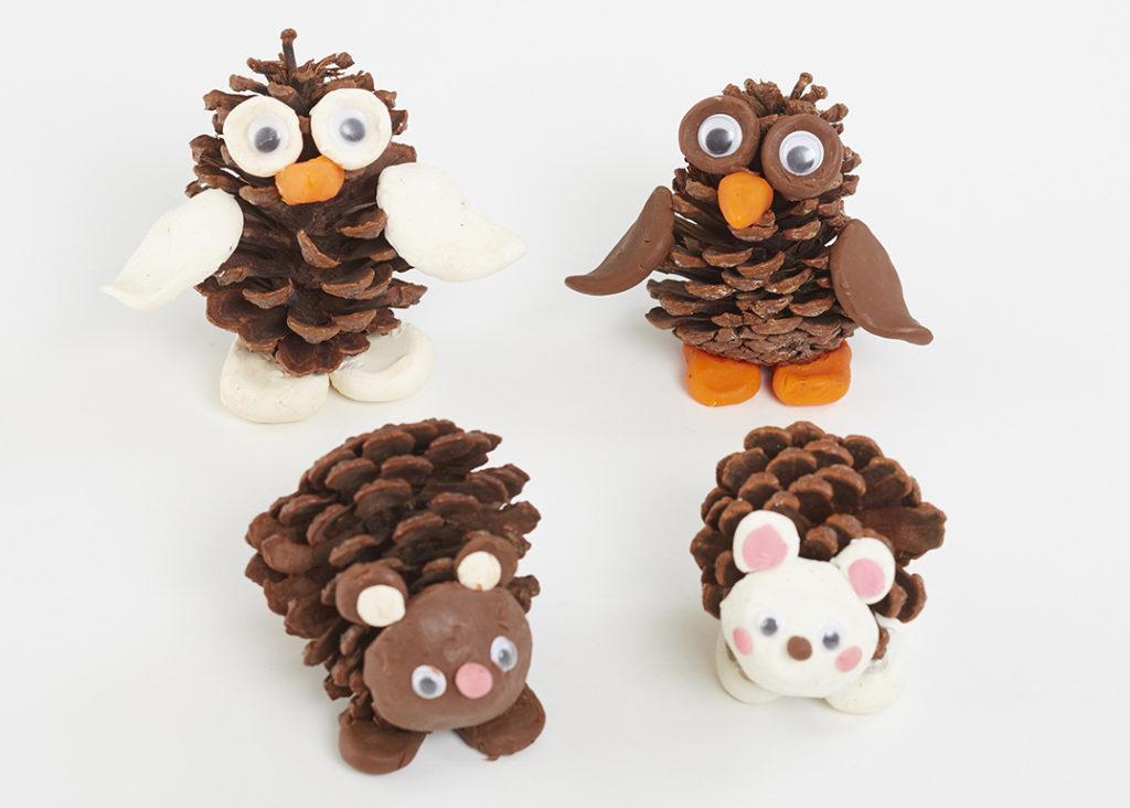 Autumn Craft - pine cone critters