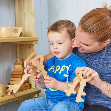 Baby Chunky Wooden Key Set