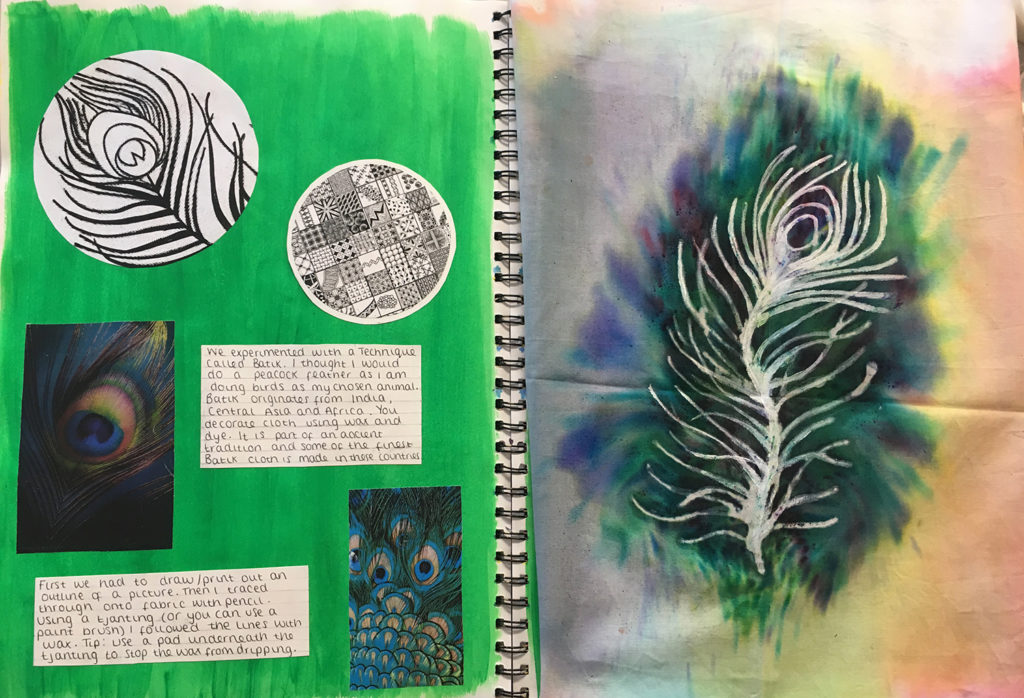 Batik Sketchbook work
