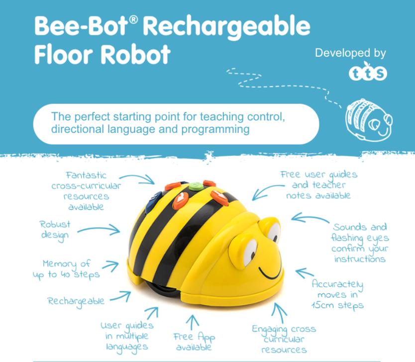bee-bot rechargeable floor robot for ks1
