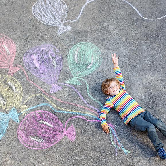 collaborative school projects - chalk