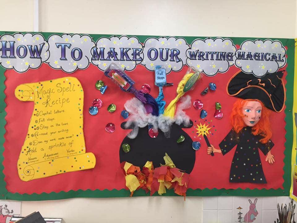 magical writing classroom display