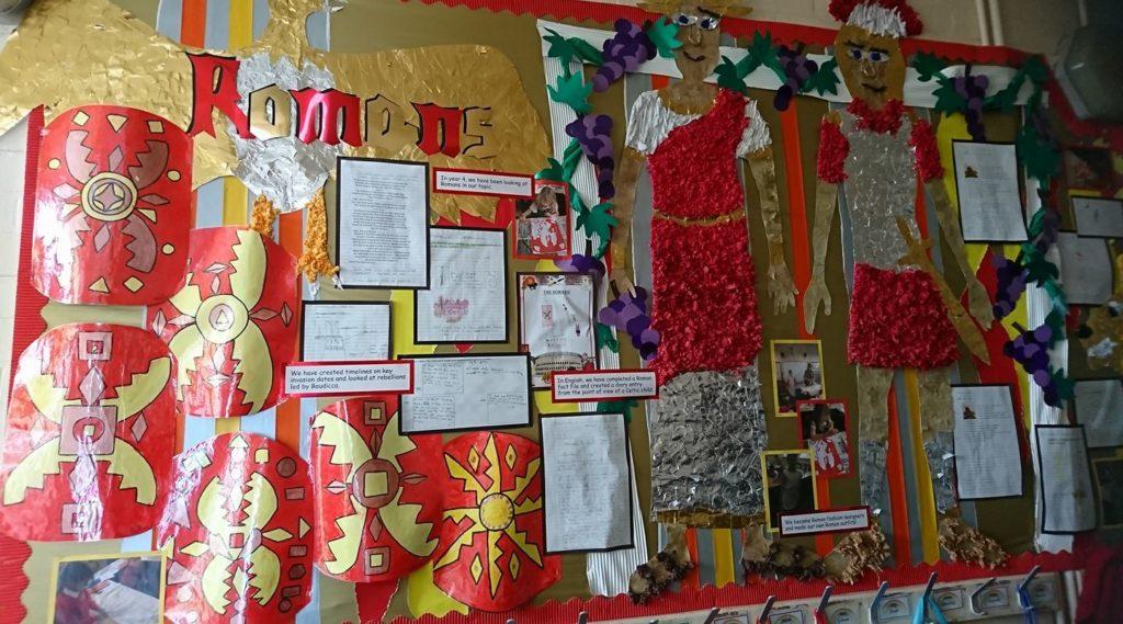 classroom display ideas - romans