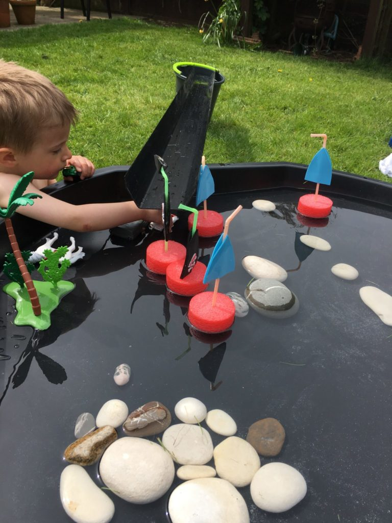Pirate noodle boats by Lottie Makes