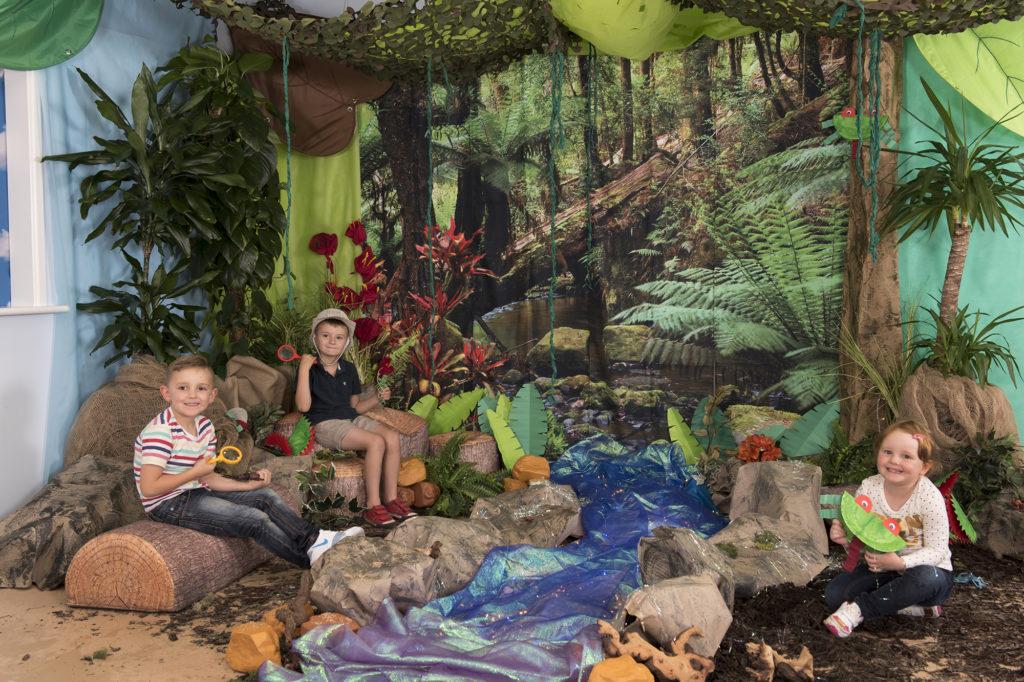 Immersive Environments Backdrop Rainforest classroom display