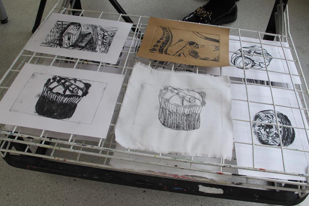 Art and Printmaking with boys at KS4 and KS5