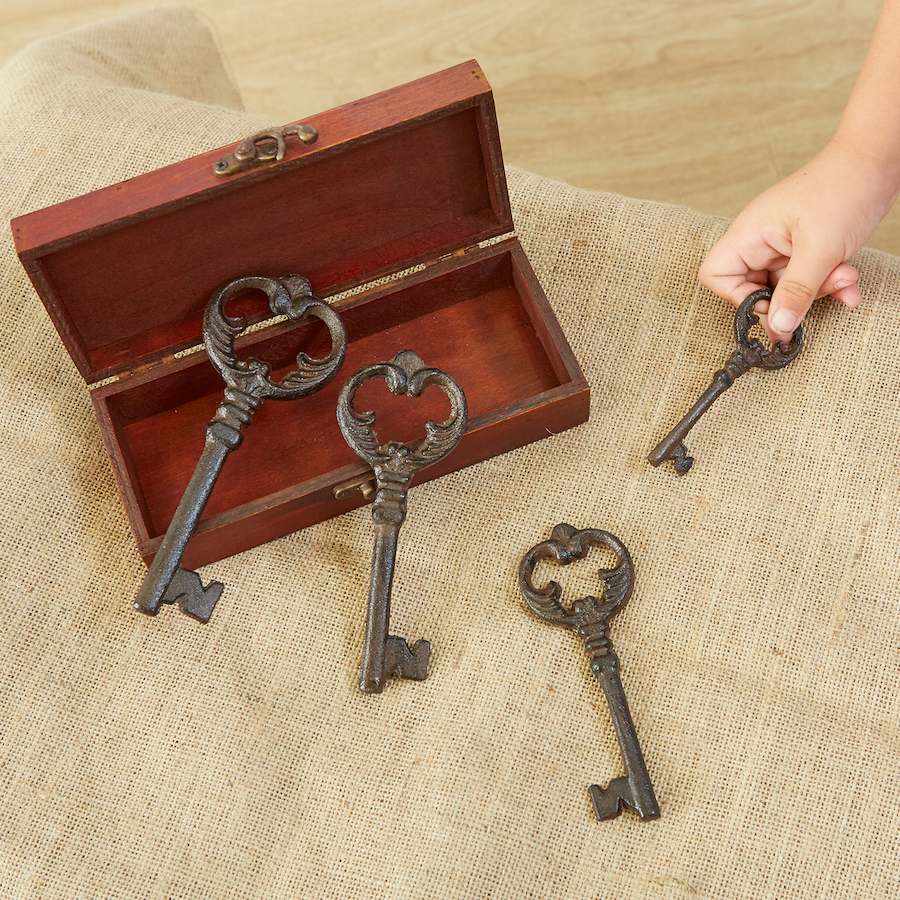 provocations - chest and metal keys