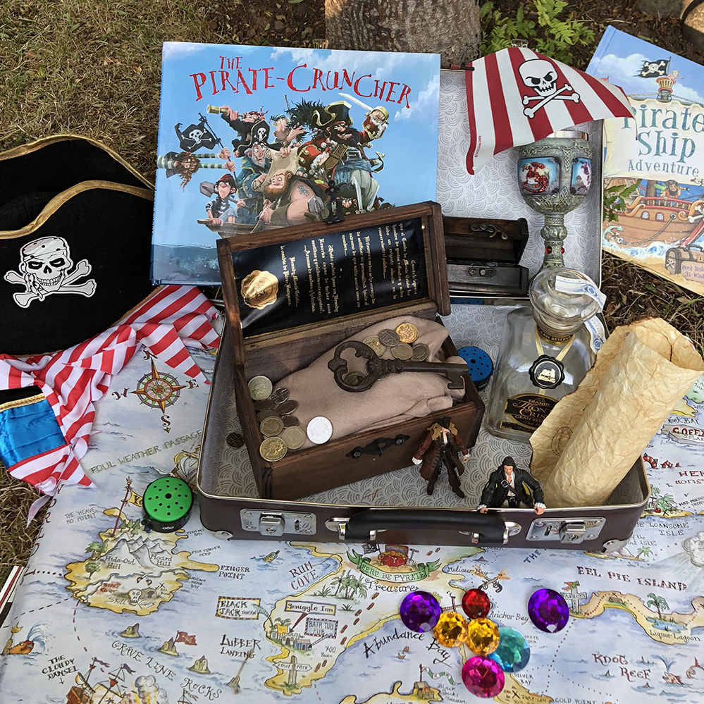 Pirates in a suitcase by Lottie Makes