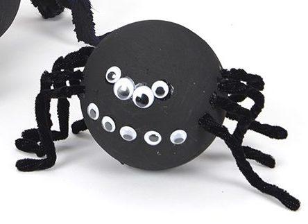 Halloween spider and bat - craft activities for children