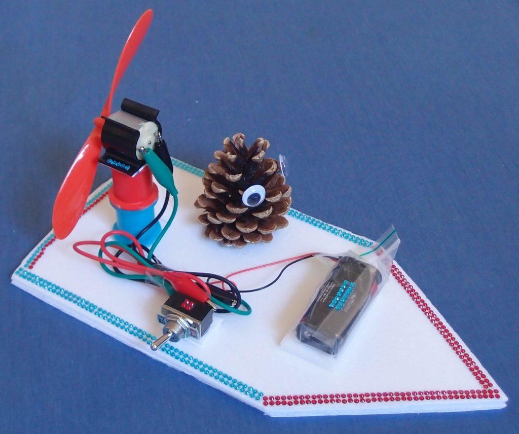Cross-curricular STEM class kit - making a fan boat