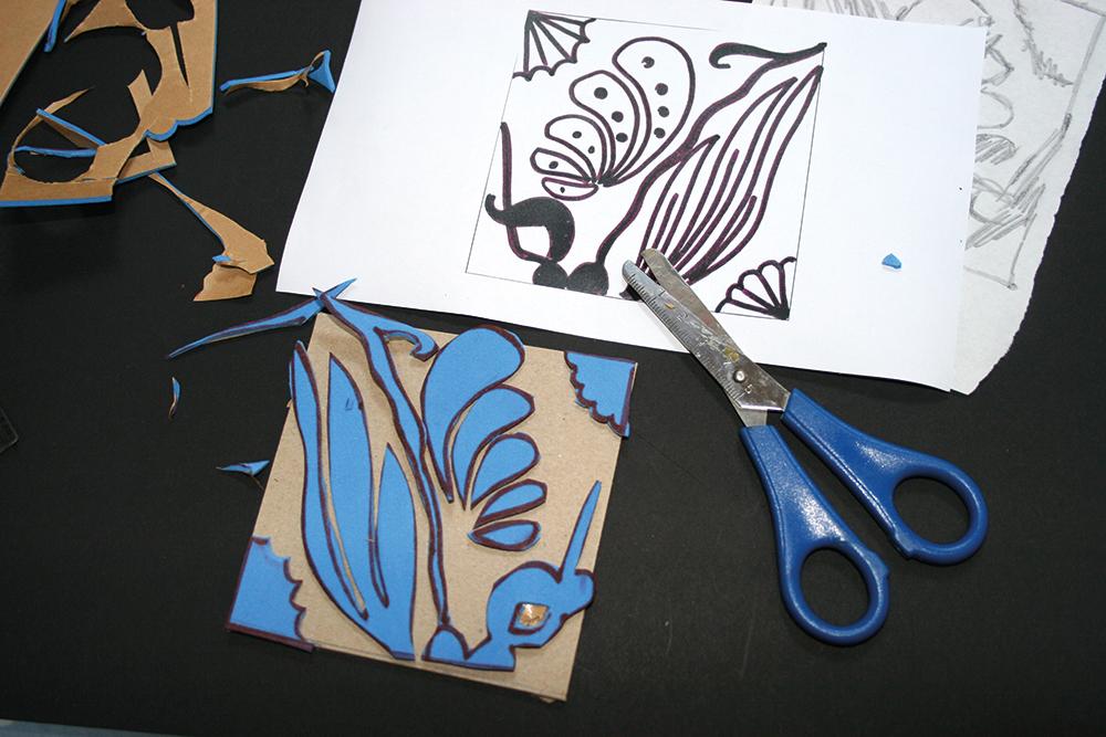 Print making using printing blocks
