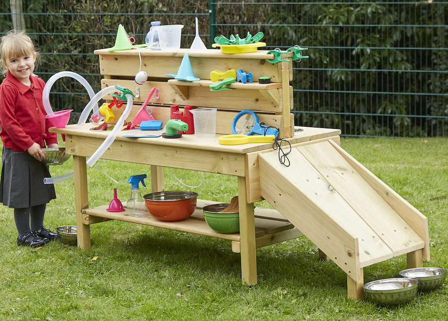 A versatile activity bench is the perfect resource to encourage children to explore, create, hypothesise, predict and experiment.
