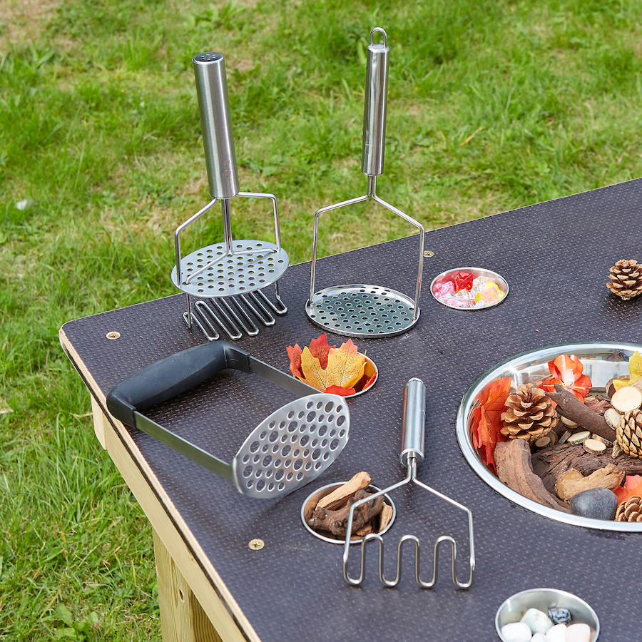 Magnificent, Messy Mashers for outdoor messy play