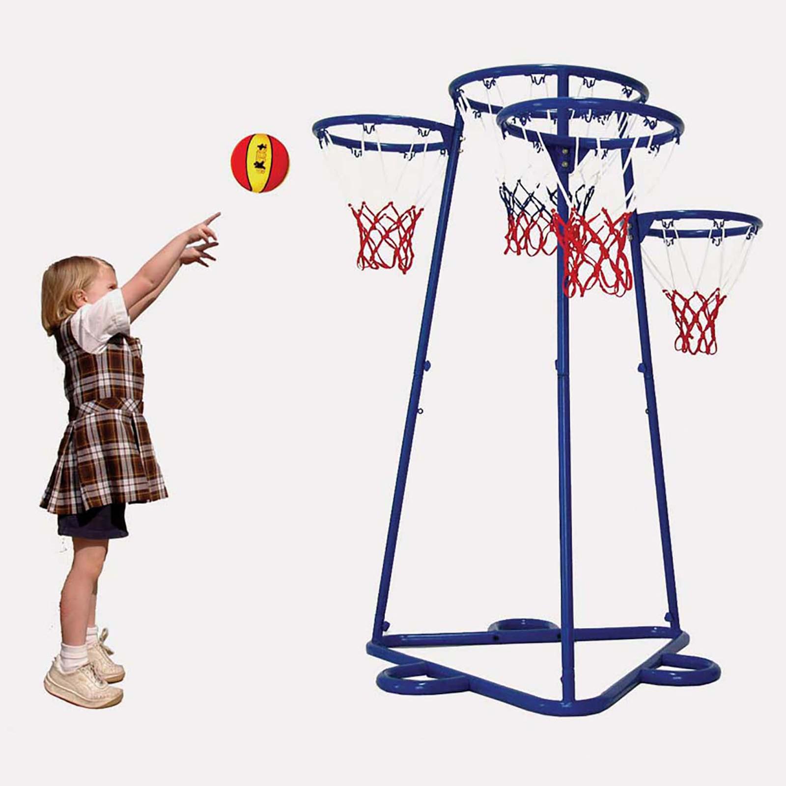 Four Hoop Basketball Net