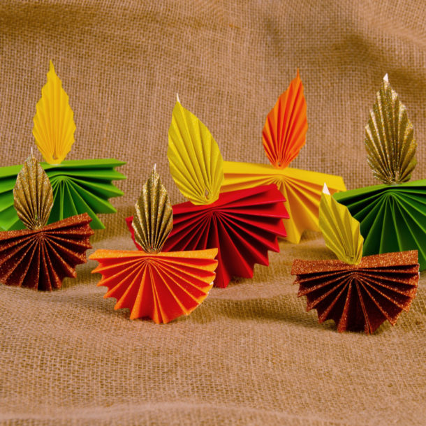 Selection of paper diyas