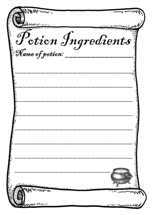 Magic potion work shet