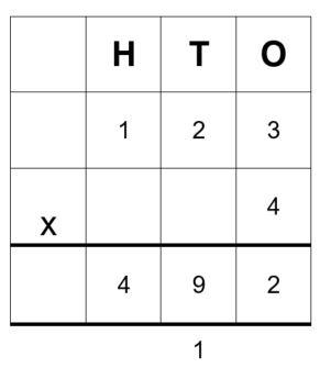 123 x 4 = 492
