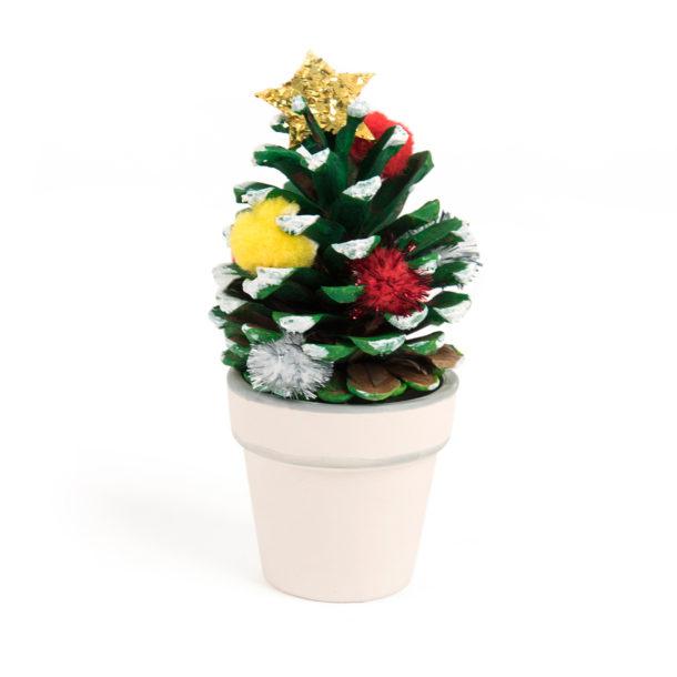 Decorated pine cone.