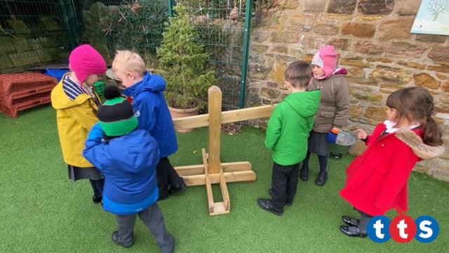 Children explore the scales